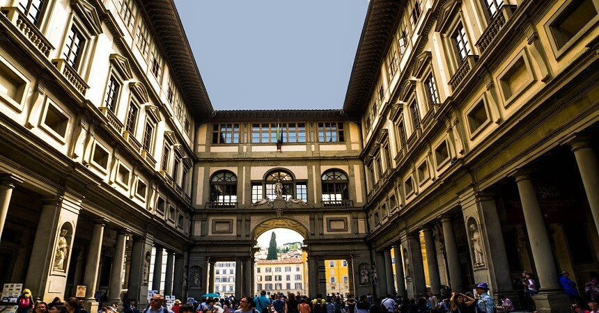In front of Uffizi Gallery